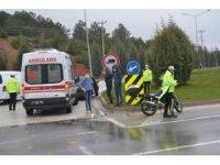 Otomobil ile motosikletin çarpıştı, 1 kişi yaralandı