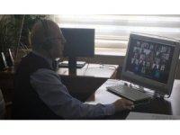 Bozüyük'te okul müdürleriyle online toplantı