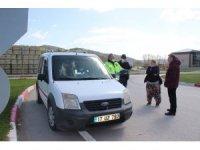 Çan'da köy minibüsü yolcularına 392 lira ceza kesildi