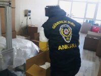 Başkent'te 30 bin kaçak maske ele geçirildi