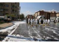 Haliliye'de cadde ve sokaklar dezenfekte edildi