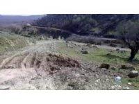 Kulp'taki patlama alanında 1 metrelik çukur oluştu