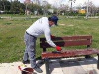 Büyükşehir ziyaretçi girişine kapalı parkları bakıma aldı