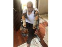 Başkan Şayir, kolunu ve bacağını kaybeden vatandaşın yüzünü güldürdü
