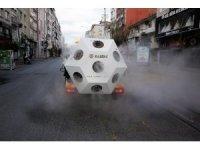 Korona virüs savaşçısı Mikronsis aracı İstanbul sokaklarında