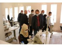 Barış Pınarı bölgesinde maske üretimi başladı