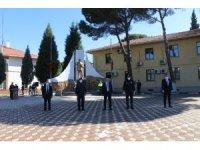Gördes'te Polis Haftası kutlamaları korona virüs tedbirleri altında kutlandı