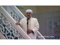 Melike Hatun Camii'nde cuma namazı kılındı