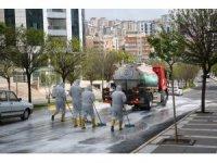 Karaköprü'de dezenfekte çalışması devam ediyor
