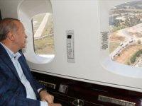 Erdoğan İstanbul'daki hastane inşaatlarını havadan inceledi
