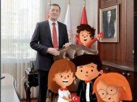 Milli Eğitim Bakanlığı'nda koltuk devri: Çocuklar evden çıkamadığı için çizgi karakterler makama oturdu