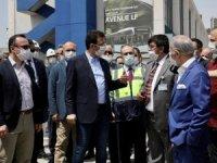 İBB Başkanı Ekrem İmamoğlu, Büyük İstanbul Otogarı'ndaki yenileme çalışmalarını yerinde inceledi.