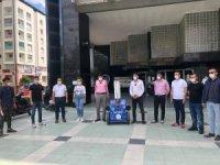 Başkan Özcan, korona virüs robotu NAZBOT-1'i tanıttı