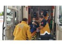 Akciğer hastası, ambulans helikopterle hastaneye kaldırıldı