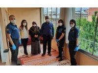 Muş polisi şehit ailelerini bayramda yalnız bırakmadı