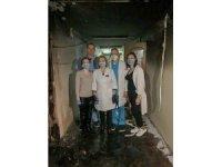 Ukrayna'da korona virüs hastalarının tedavi gördüğü hastane kundaklandı
