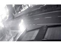 Gök taşı yağmuru Doğu Karadeniz Bölgesi'nde güvenlik kameralarına yansıdı