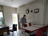 Hakkari'deki iş yerleri dezenfekte edildi