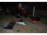 Yoldan çıkan araç ağaçlara çarptı: 1 ölü