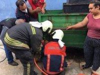 Üzüm eleme makinesine düşen çocuk kurtarıldı