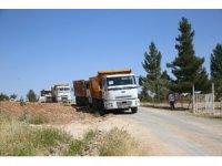 Horzum Mahallesi toz ve çamurdan arındırılıyor