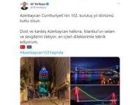 Vali Yerlikaya, Azerbaycan Cumhuriyeti'nin 102. kuruluş yıl dönümünü kutladı