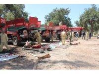 Mersin'de dumansız yangın tatbikatı