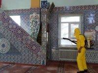 Hisarcık camilerinde dezenfekte çalışması
