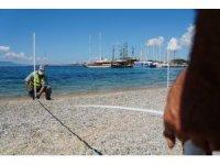 Bodrum'da plajlar 1 Haziran için hazırlanıyor