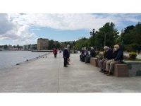 Sinop'ta yaşlılar dördüncü kez sokağa çıktı