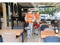 Altındağ Belediyesi normalleşme kapsamında açılacak işletmeleri dezenfekte etti