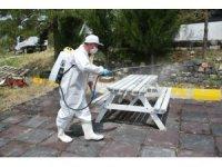 Hizmete açılan işletmelerde dezenfekte çalışması