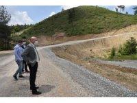 Manisa'da heyelana karşı yeni yol yapıldı