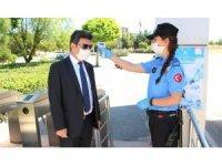Rektör Karacoşkun Korana tedbirlerini denetledi