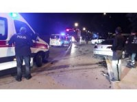 Denizli'de iki otomobil kavşakta çarpıştı: 6 yaralı