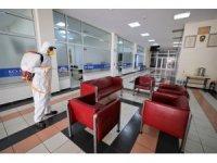 Başiskele'de sosyal alanlar dezenfekte edildi
