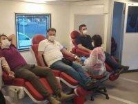 Huzur Sağlık-Sen'den Kızılay'a kan bağışı