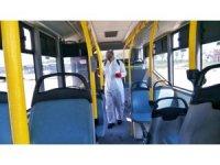Toplu taşımada dezenfeksiyon sürüyor