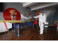 Karesi'de işyerleri dezenfekte edildi