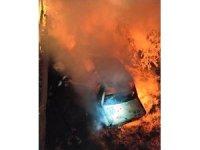Otomobil yandı: 1 ölü