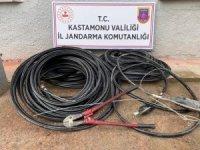 Jandarma tarafından kablo hırsızlarına suçüstü