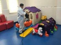 Nezaket Kreş Okulu belediye ekipleri tarafından dezenfekte edildi