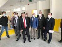Vali Yazıcı Burhaniye'de okul inşaatlarını inceledi