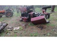 Kastamonu'da ormanlık alanda traktör devrildi: 1 Ölü