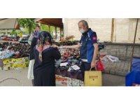 Serdivan'da normalleşmenin ilk haftasında pazar yerleri denetlendi