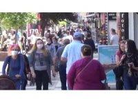 Edirne'de caddeler doldu taştı