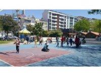 Sinop'ta çocuklar dışarıda olmanın tadını çıkardı