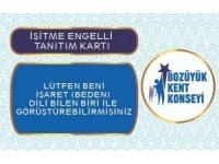 Bozüyük'te işitme engelliler için özel tanıtım kartı hazırlandı