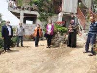 Burhaniye'de Ak Partililer geçmiş olsun ziyaretinde bulundu