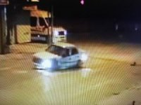 Ölümlü trafik kazası güvenlik kamerasında